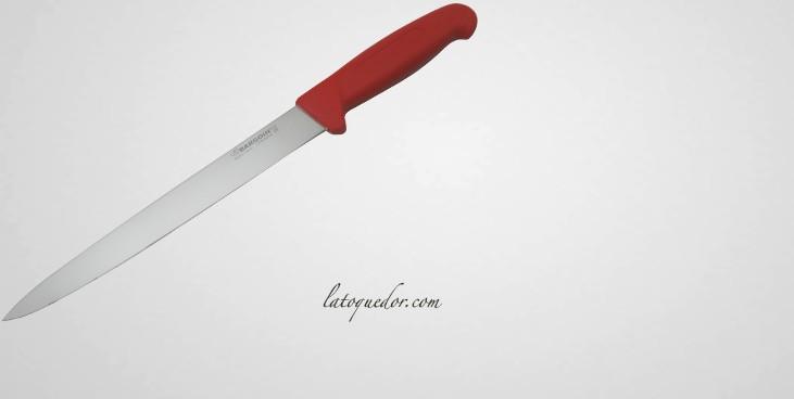 Couteau tranchelard professionnel Industry - ROUGE