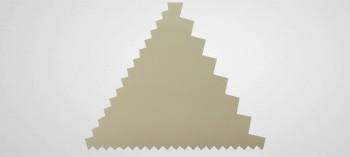 Peigne décor pâtisserie triangle
