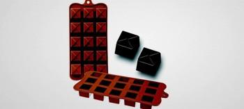 Moule à chocolat silicone carré Géo