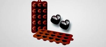 Moule à chocolat silicone cœur
