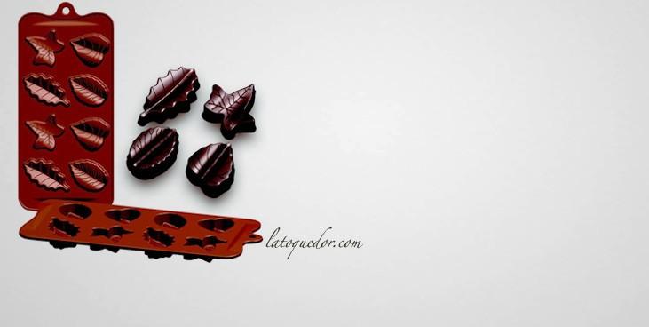 Moule à chocolat silicone feuille