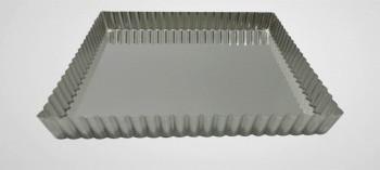 Moule tarte carré mobile fer blanc