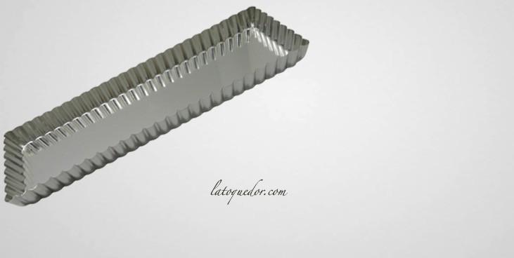 Moule à tarte rectangle mobile fer blanc