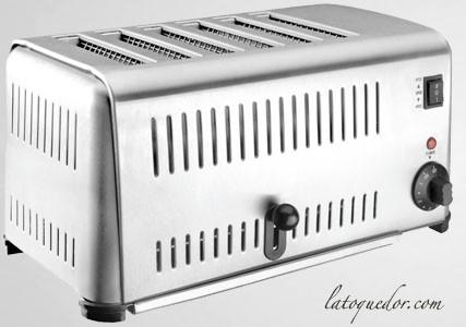 Grille pain professionnel inox 6 tranches