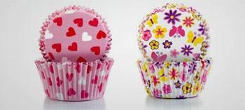 Caissette à pâtisserie et cupcake printemps