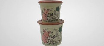 Pot à rillettes grès avec couvercle (x50)