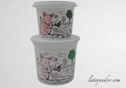 Pot à rillettes blanc avec couvercle (x50)