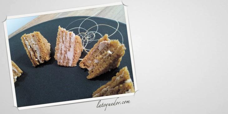 Opéra de foie gras pain d'épices