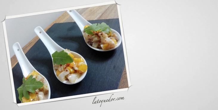 Tartare de dorade, mangue et vanille