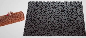 Tapis silicone arabesque pour moule à bûche
