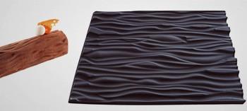 Tapis silicone faux bois pour moule à bûche