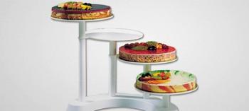 Présentoir à gâteaux plastique 4 étages