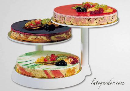 Présentoir à gâteaux plastique 3 étages