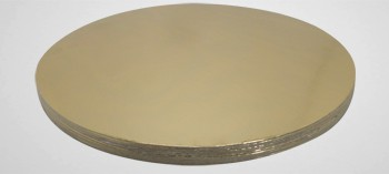 Plateau à gâteau rond or uni