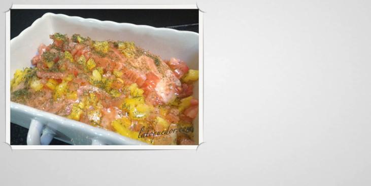 Pavé de saumon mariné à la plancha