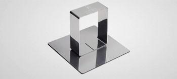 Poussoir carré inox