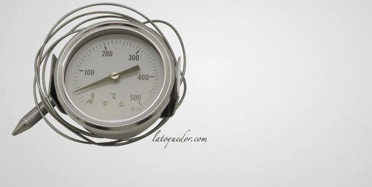 Thermomètre pour four à pizza et à pain 0/+500°C
