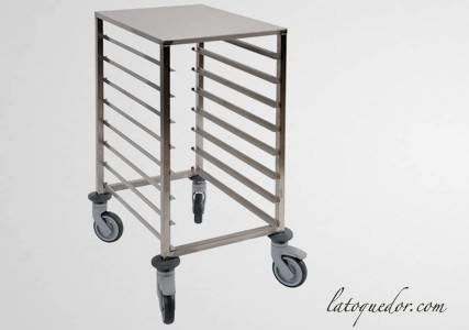 Echelle inox table basse 60x40 8 niveaux