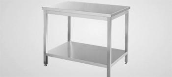 Table inox démontable avec étagère